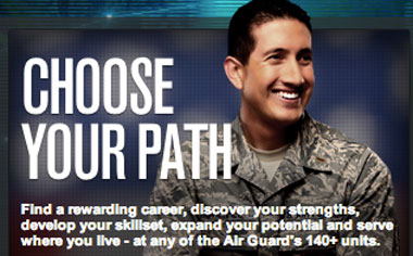 choose your path, photo of a man in uniform