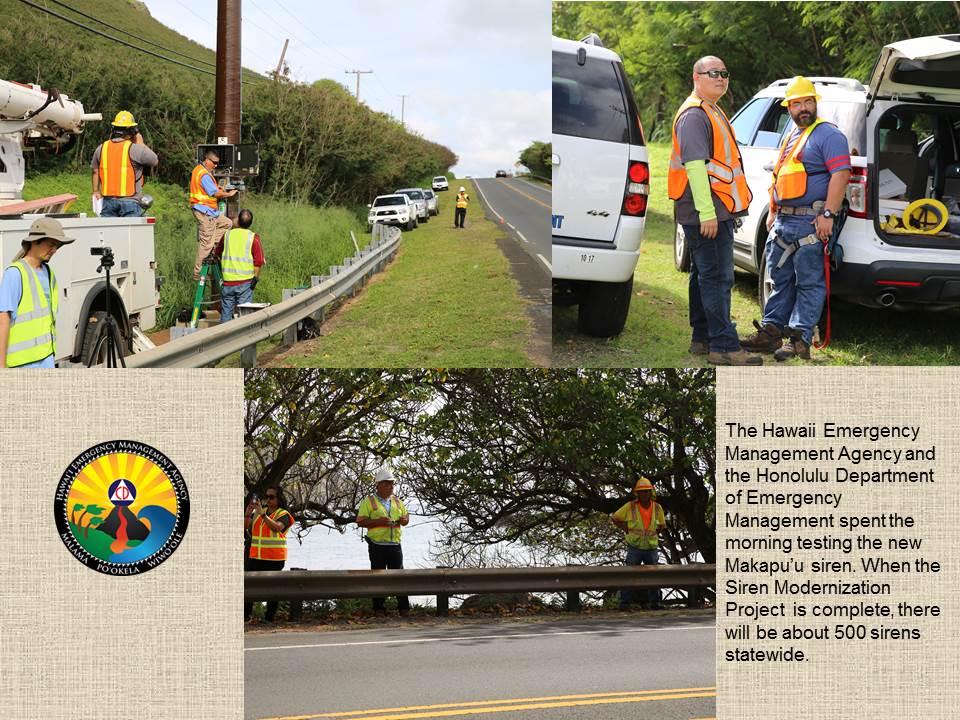 Hawaii Emergency Management Agency | New Siren in Waimanalo
