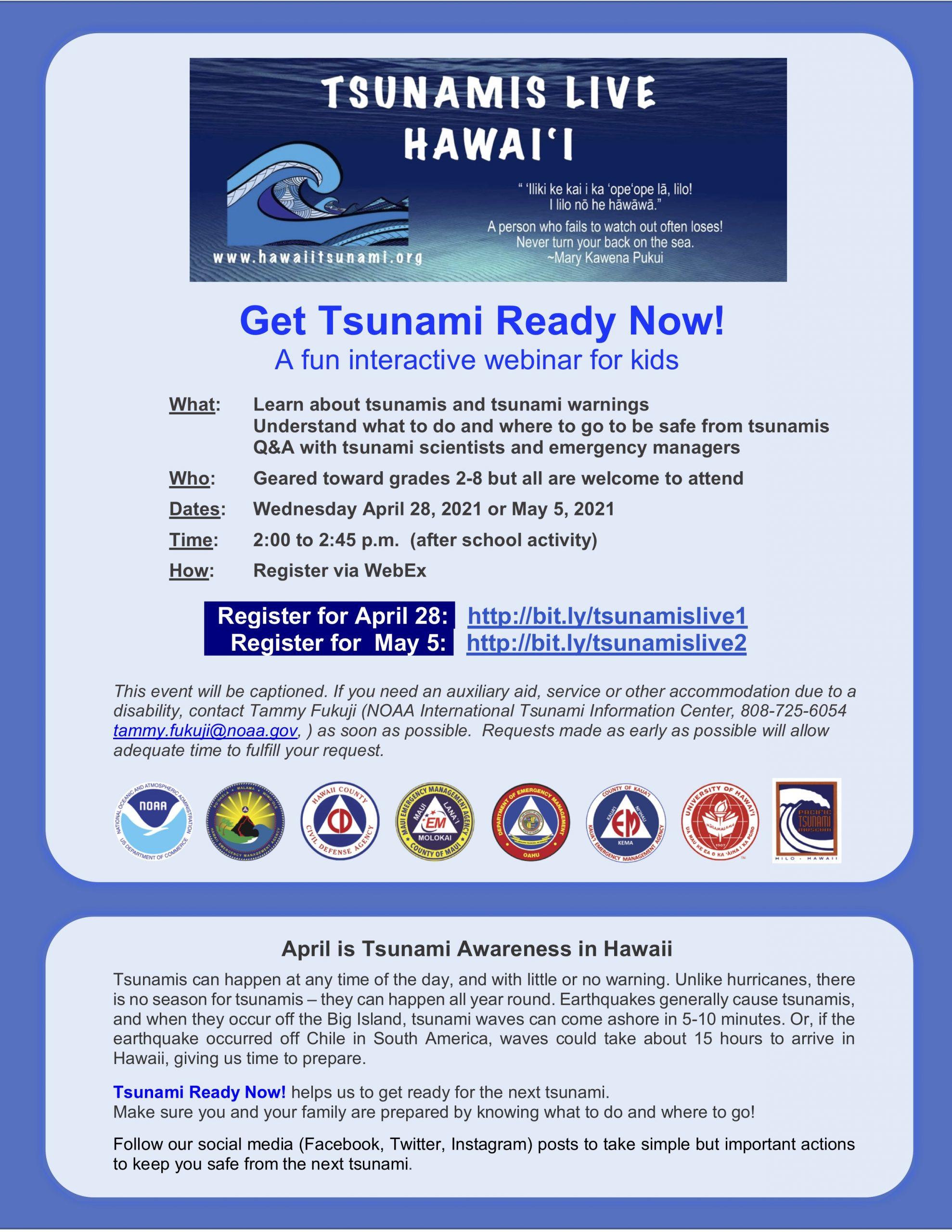 News Release: Tsunamis Live: A Fun Interactive Webinar for Kids post thumbnail