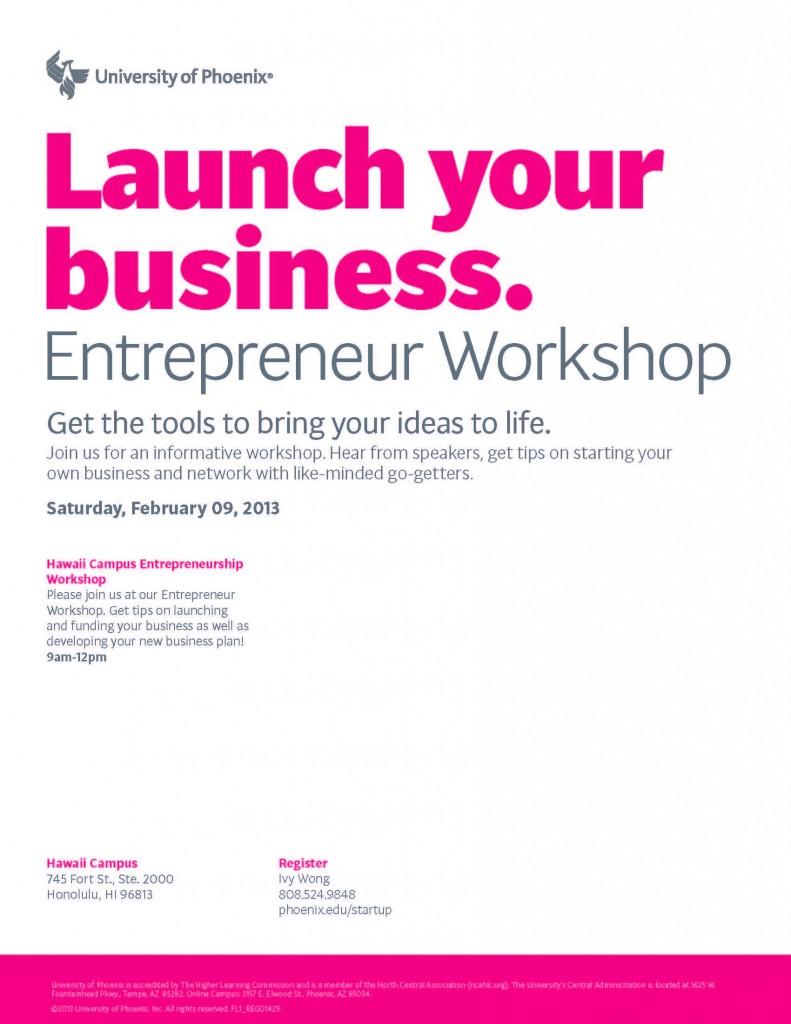 Entrepreneur Workshop Flyer