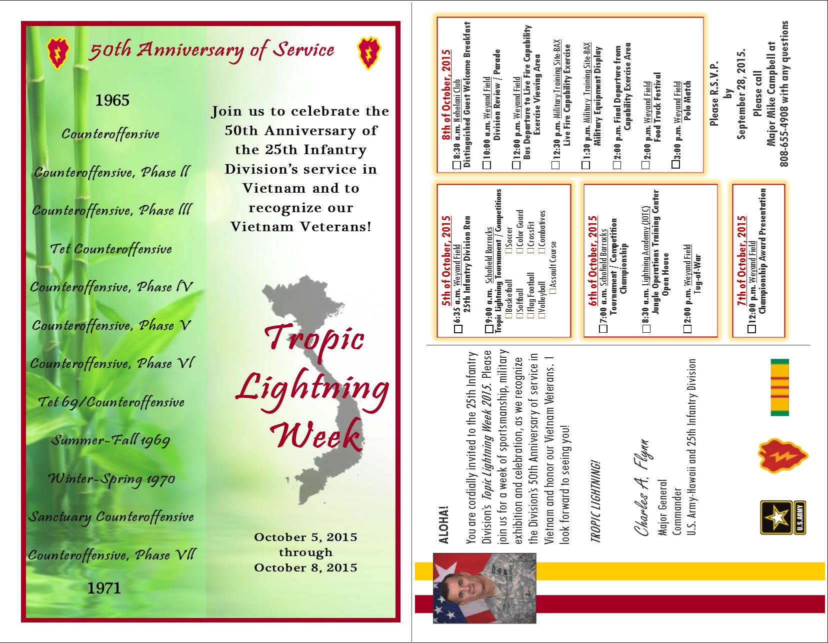 Tropic Lightning week - Invitation