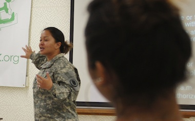 image of a woman speaking
